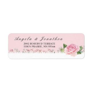Elegante Blumenspitze blaß - rosa Hochzeit