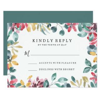Elegante Blüten   Wedding UAWG Karte