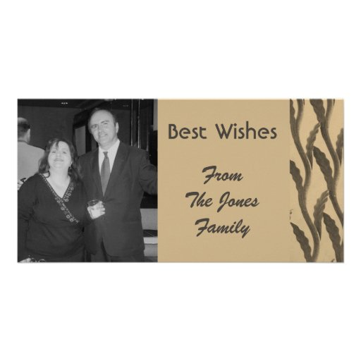 elegante braune biege Niederlassungen Fotogrußkarten