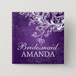 Elegante Brautjungfern-Bevorzugungs-Vintager Quadratischer Button 5,1 Cm