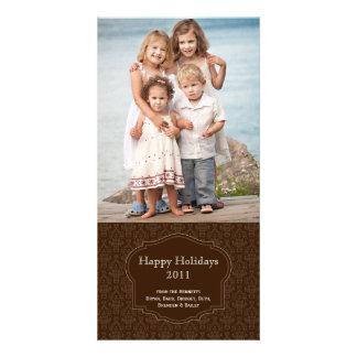 Elegante Brown-Feiertags-Fotokarte Fotokarte