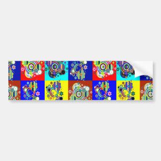 Elegante bunte Grafiken durch NAVIN CherryHill USA Autoaufkleber