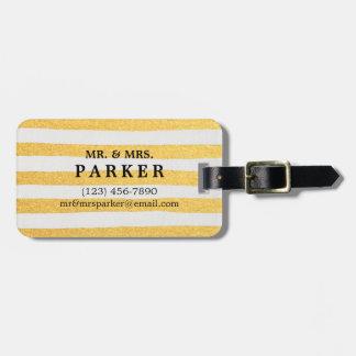 Elegante Bürsten-Anschläge und Bild-Gepäckanhänger Gepäckanhänger