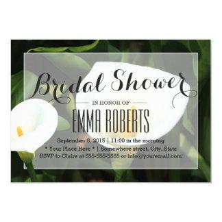 Elegante Calla-Lilien-Brautparty-Einladungen Karte