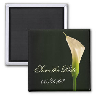 Elegante Callalilie Save the Date Quadratischer Magnet