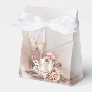 Elegante Champagne-Hochzeit Geschenkkartons