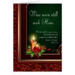 Elegante christliche Weihnachtskarten Grußkarte