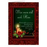 Elegante christliche Weihnachtskarten Grußkarten