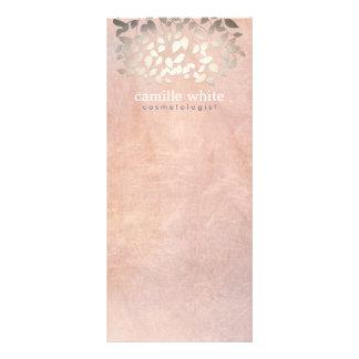 Elegante Cosmetology-Imitat-Goldfolie verlässt Bedruckte Werbekarte