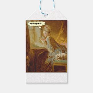Elegante Dame Thinks About Porcupines Geschenkanhänger