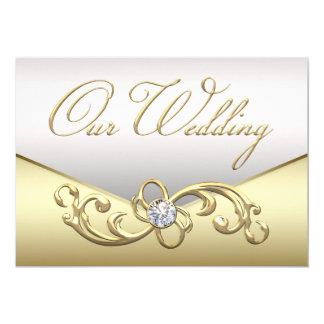 Elegante Diamant-Silber-und Karte