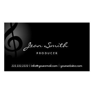 Elegante dunkle Clef-Produzent-Visitenkarte Visitenkarten