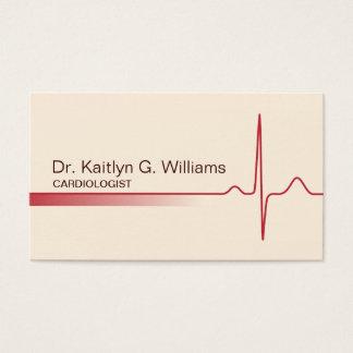Elegante ECG Wellen-Kardiologen-Visitenkarte Visitenkarte
