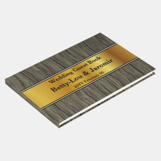 Elegante, einfache Braut/BräutigamGuestbook Gästebuch