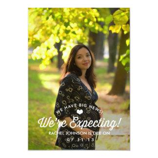 Elegante Einfachheits-Schwangerschafts-Mitteilung 12,7 X 17,8 Cm Einladungskarte