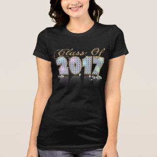 Elegante einzigartige schwarze Golddiamant-Klasse T-Shirt
