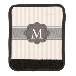 Elegante Elfenbein-Beige Stripes Gepäckgriff Marker