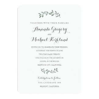 Elegante Eukalyptus-Hochzeits-Reihe Karte