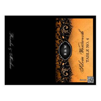 Elegante FALTENDE Platzkarte-Namen Halloweens Postkarten