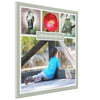 Elegante Familien-Erinnerungens-Foto-Collage mit Leinwanddruck