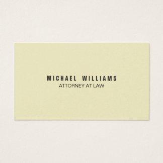 Elegante Farbe Crema Visitenkarte