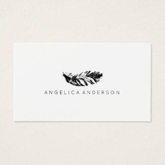 Elegante Feder-Visitenkarte Visitenkarten