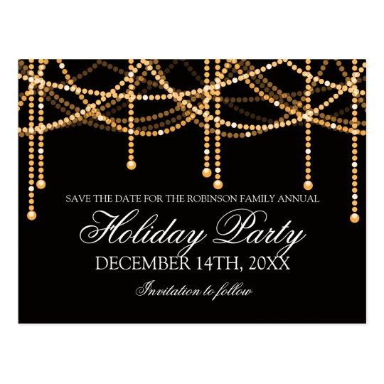 Elegante Feiertags-Save the Date Postkarten