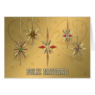 Elegante Feliz Navidad Karte mit Verzierungen
