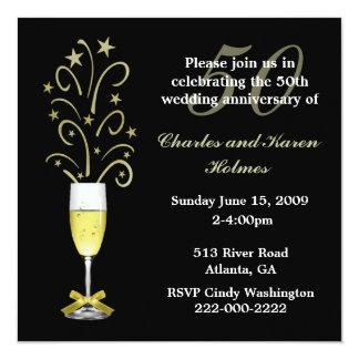 Elegante festliche Hochzeitstag-Einladung Quadratische 13,3 Cm Einladungskarte