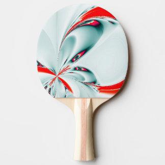 Elegante Fraktal-Touch des Rotes Tischtennis Schläger