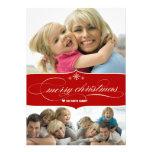 Elegante frohe Weihnacht-Feiertags-Familien-Foto-K Individuelle Ankündigskarten