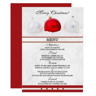 Elegante funkelnde Weihnachtsmenü-Karte 12,7 X 17,8 Cm Einladungskarte