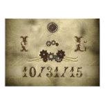 Elegante Gänge Steampunk Hochzeits-Einladungen 12,7 X 17,8 Cm Einladungskarte