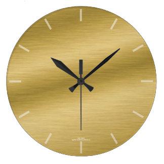 Elegante gebürstete Goldblick-Uhr Große Wanduhr