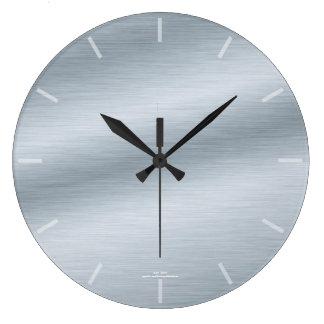 Elegante gebürstete silberne Blick-Uhr Große Wanduhr