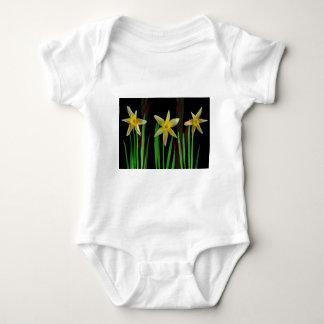Elegante gelbe Blumen-Blumenblumenstrauß-Geschenke Baby Strampler