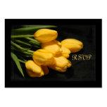 Elegante gelbe Tulpe UAWG Hochzeits-Karte Visitenkartenvorlage