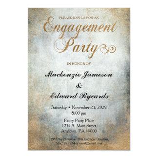 Elegante gemalte kupferne Verlobungs-Party 12,7 X 17,8 Cm Einladungskarte