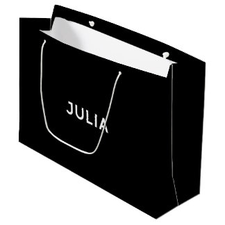 Elegante Geschenk-Tasche Julia in Schwarzweiss Große Geschenktüte