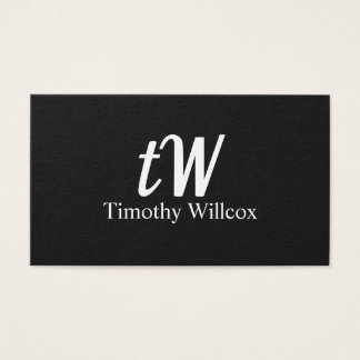 Elegante Gestaltung Moderne Minimalistische Visitenkarte