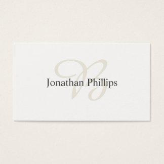 Elegante Gestaltung Moderner Einfacher Weißer Visitenkarte