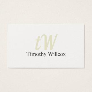 Elegante Gestaltung Modernes Minimalistisches Weiß Visitenkarte