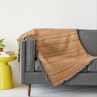 Elegante gestreifte Leinenbeschaffenheit Decke