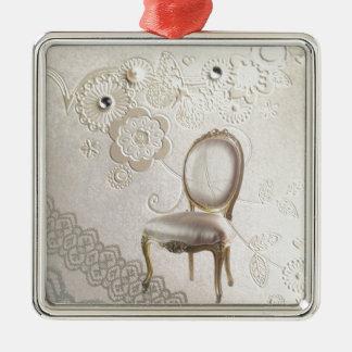 elegante girly Perlen-Wirbelsspitze Blumenparis Silbernes Ornament