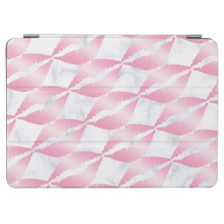 elegante girly Rosengoldlippen kopieren weißen iPad Air Cover