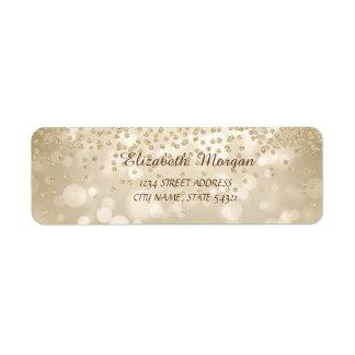 Elegante Girly stilvolle Bokeh Golddiamant-Adresse