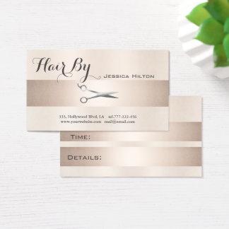 Elegante glänzende helle Scheren der Visitenkarte