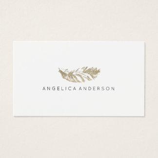 Elegante Glitter-Feder-Geschäfts-Karte Visitenkarten