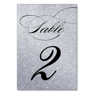 Elegante Glitter-Hochzeits-Empfangs-Tischnummer Karte