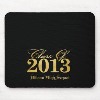 """Elegante """"Gold"""" Klasse von Abschluss 2013 Mousepad"""